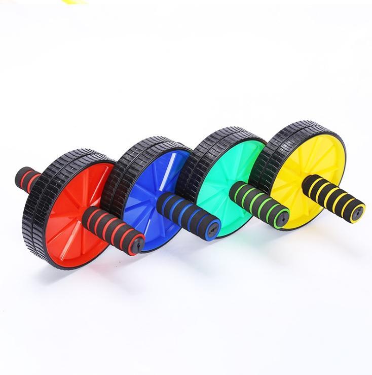 العجلات ذات العجلات الدوارة ذات العجلات البطنية ذات العجلات المزدوجة لتمرين معدات لياقة جسم الصالة الرياضية المنزلية مع (هاسوك)