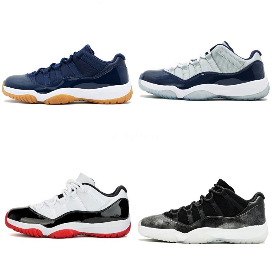 2020 zapatos más nuevos de Jumpman 11S bajo Og Baloncesto línea de sangre del hombre araña de pino verde Unc para hombre de las zapatillas de deporte Deportes Travis Scotts Tamaño 7- # 624