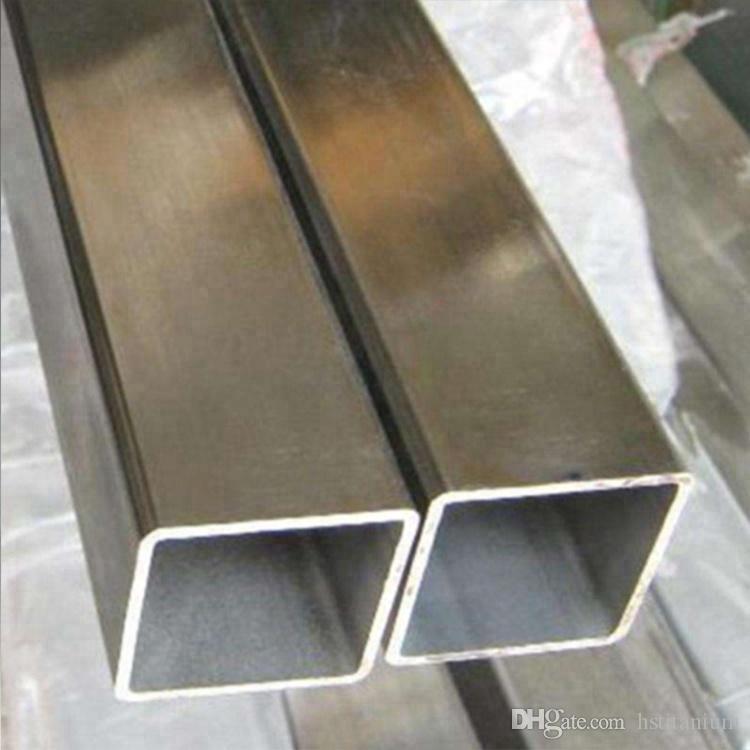 sanayi için Titanyum Square metro Titanyum Kare / Dikdörtgen Alaşım Tüp Yüksek kaliteli GR1 GR2 GR5 titanyum kare tüp