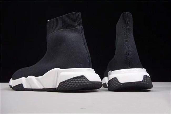 Avec Boîte de gros Sock de luxe Entraîneur Chaussures Speed Casual Sneakers Speed Race Sock Entraîneur Runners Chaussures Noir Hommes et Femmes Chaussures de sport