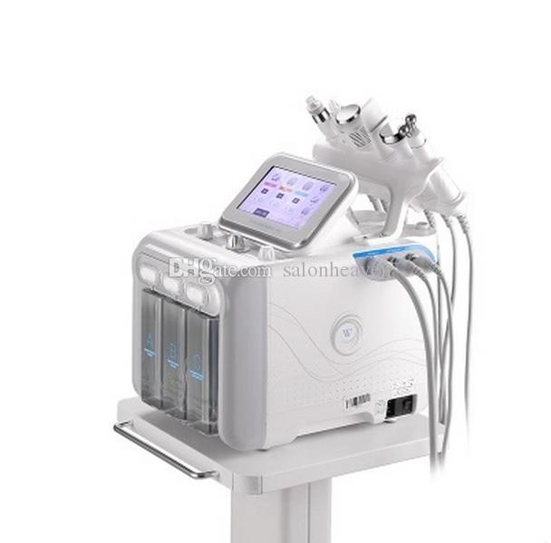 6 oxígeno en 1 Hydro dermoabrasión facial Hydra Máquina ultrasónica de RF Fría martillo spray Hydra microdermoabrasión máquina para rejuvenecimiento de la piel