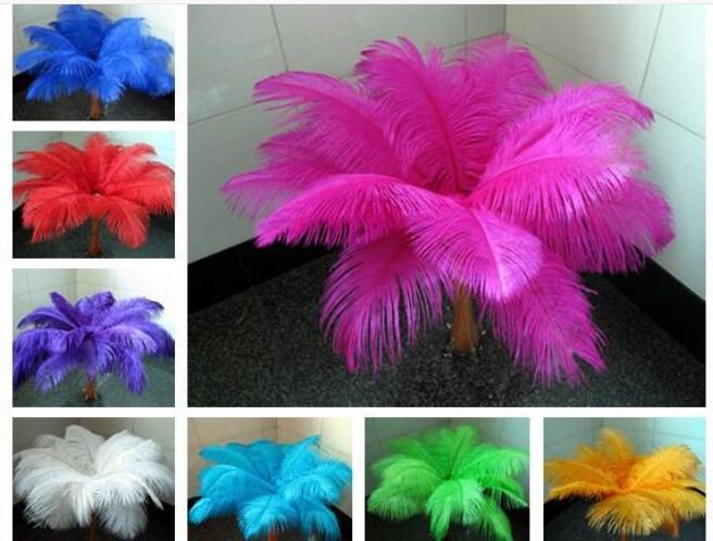Оптовое большое количество 15-20сма изысканных страусовых перьев, используемое для свадьбы центра стола центра партии поставок украшения