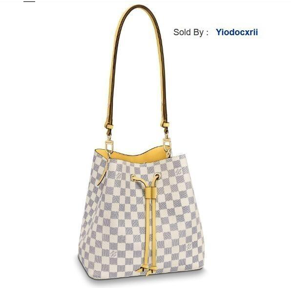 yiodocxrii PEUX Yellow Néonoé Canvas Bucket Bag Shoulder Bag N40152, N40153 Totes Handbags Shoulder Bags Backpacks Wallets Purse
