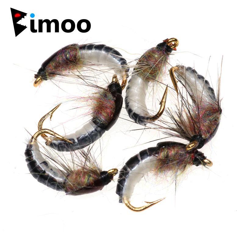 6шт # 12 Реалистичный Нимфа Scud Fly Для Ловля форели Nymphing Искусственное насекомых Приманки Приманки