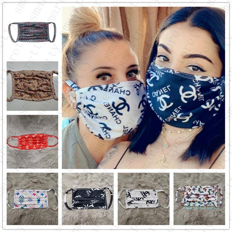 10 UNIDS / ENVÍO DE LA GOTA Marca Máscaras Mujeres Hombres Fibra de Seda Máscara Facial Diseñador lavable a prueba de polvo a prueba de polvo Ciclismo Deportes Boca Nariz Cubierta D42301