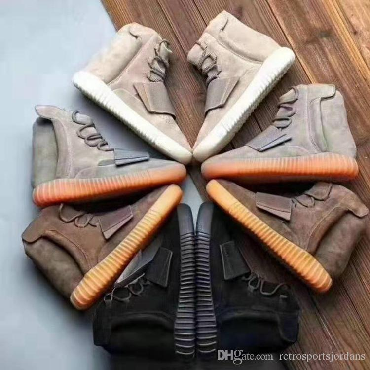 Hommes Femmes 750 Designeur Chaussures de mode Basf Sneaker Gris clair Black Chocolate Brun brun dans les bottes High-Top de Kanyes Dark Kanyes 36-46