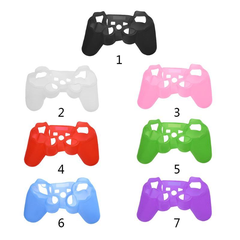 Soft Elastic Silicone Cover Protective Skin Case Replacement Housing Cover Case shell for PS3 Game Controller