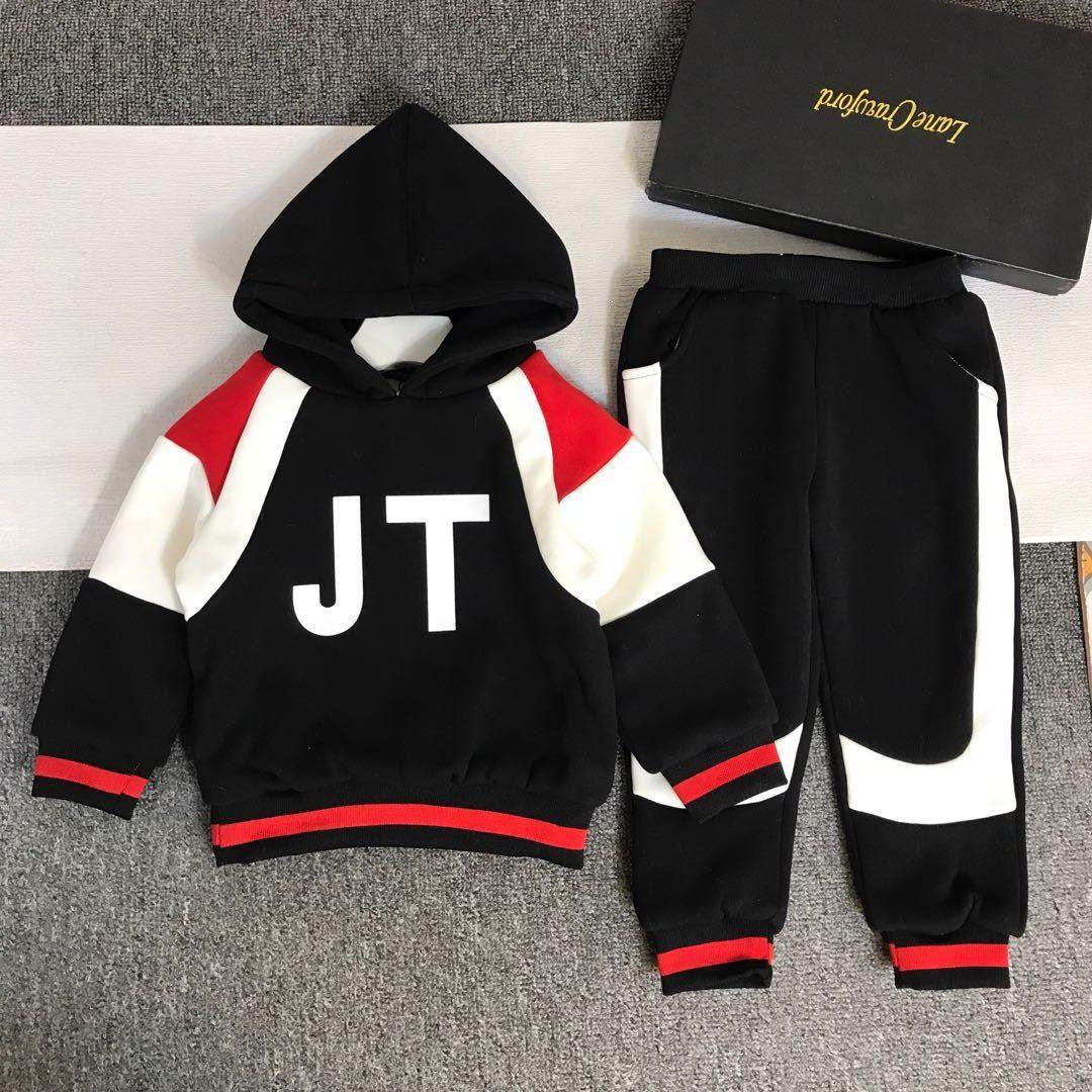 Meninos conjuntos 2pcs alta qualidade WSJ014 top + calça # 112767