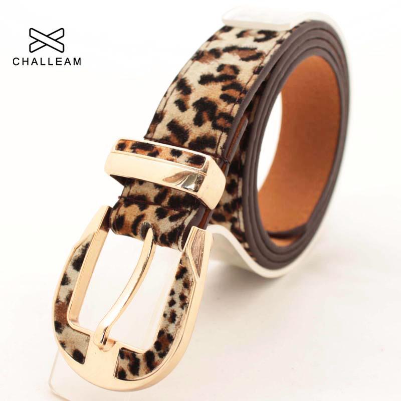 Hot vente 2.8cm Femme Pigskin Leopard Ceinture dames Ardillon velours Jeans Pantalon taille Bracelet PU Ceintures en cuir pour femmes 177
