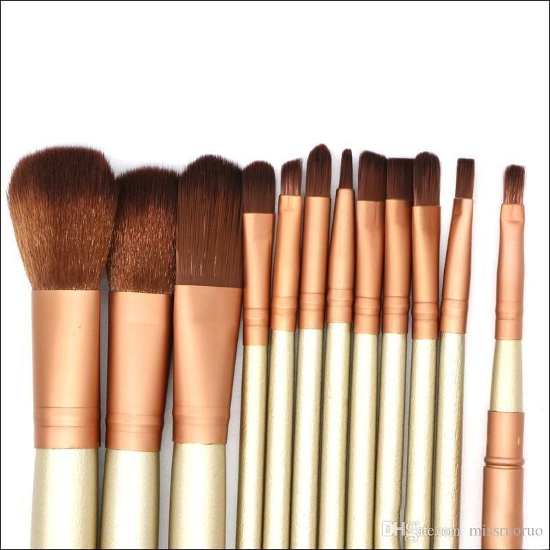 N3 Makyaj Fırçalar 12 adet Profesyonel Fırça Setleri Markalar Makyaj Pudra Fondöten Güzellik Araçları Kozmetik Fırça Kitl ...