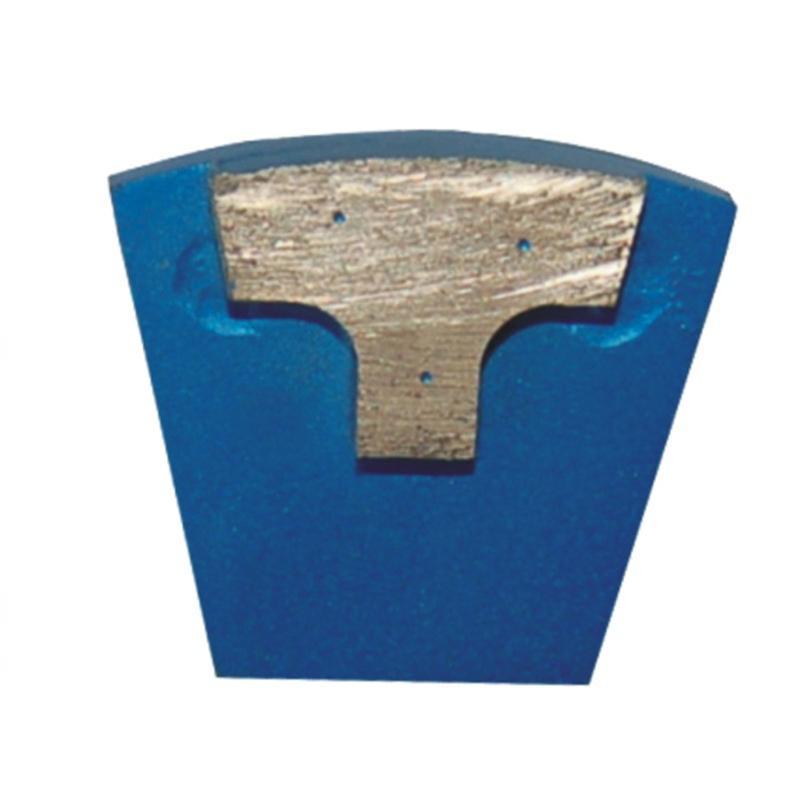 Double Pins Redi Lock Concrete Grinding Shoes Single T Shape Segment Diamond Grinding Block for Hard Concrete Floor 12PCS