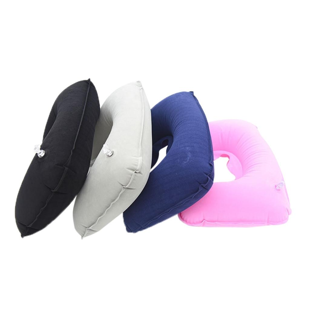 U Shaped Travel Pillow Inflatable Neck Car Head Rest Air Cushion For Travel Office Nap Head Rest Air Cushion Neck Pillow 4.0# Outdoor Pads