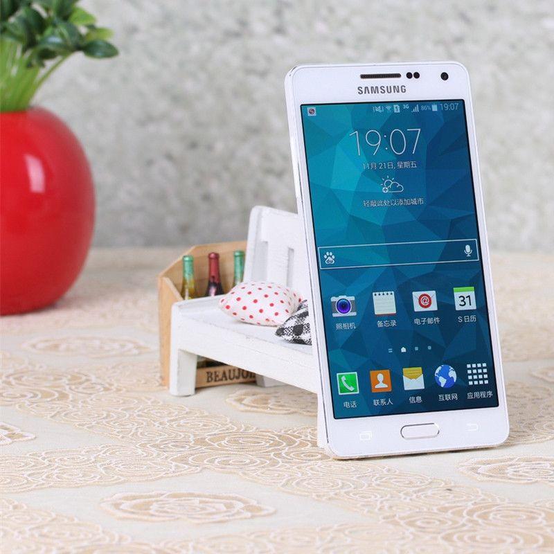 تجديد مقفلة الأصلي سامسونج غالاكسي A5 A5000 4G LTE رباعية النواة 5.0 بوصة 2G / 16G WIFI GPS بلوتوث تجديد الهاتف الذكي 2015 الإصدار