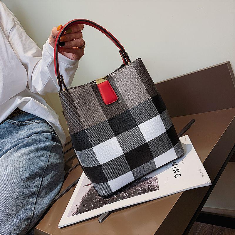 2019 новая мода плед ведро Сумка Леди сумка высокого качества женщин небольшой Crossbody плеча ведро Сумка xianghe/1