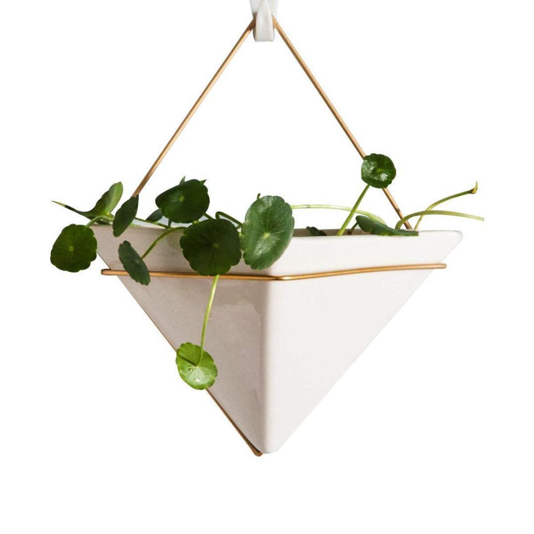 Hanging Planter pour plantes d'intérieur, Container Décor mur géométrique - Idéal pour les plantes succulentes, Air plante, plantes Faux