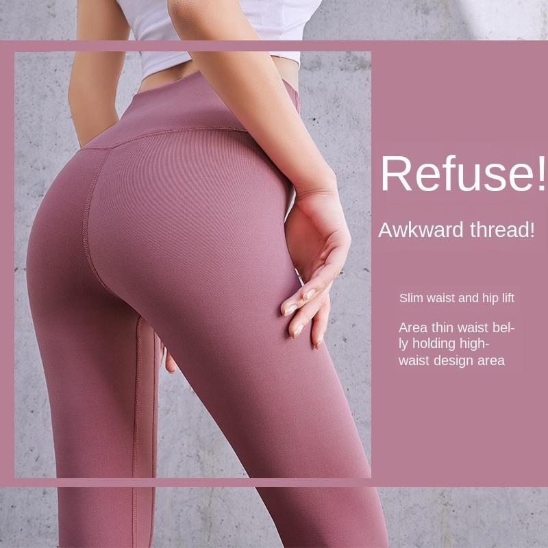 Spor Elastik Spor Pantolon Bel Pants 2019 Dikiş Yoga Running AaZmN Polyester Kadınlar Yoga Yüksek Spor Tozluklar