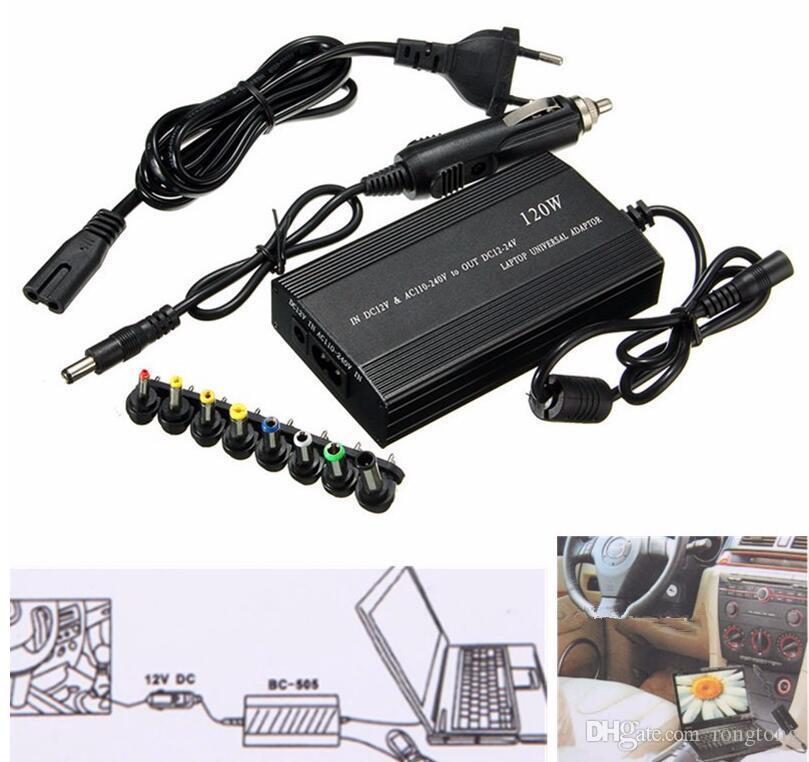 Universal Laptop Em Car Charger DC Notebook AC Power Adapter Fonte 120W UE US Plug Power de carregamento para Lenovo Para Sony