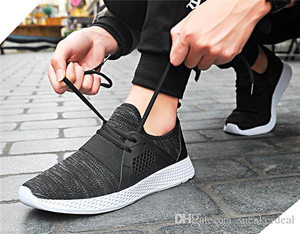 Herren Sneaker Schuhe Ultraleichte atmungsaktive Mesh-Laufschuhe Antiskid Outdoor-Sportschuhe handgemachter weicher Mann beiläufige flache
