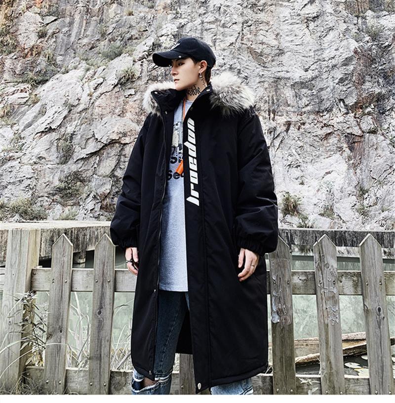 Designer Stampato loose thick cappotto di inverno Moda Uomo Plus Size Outerwear di lusso del Mens Parka