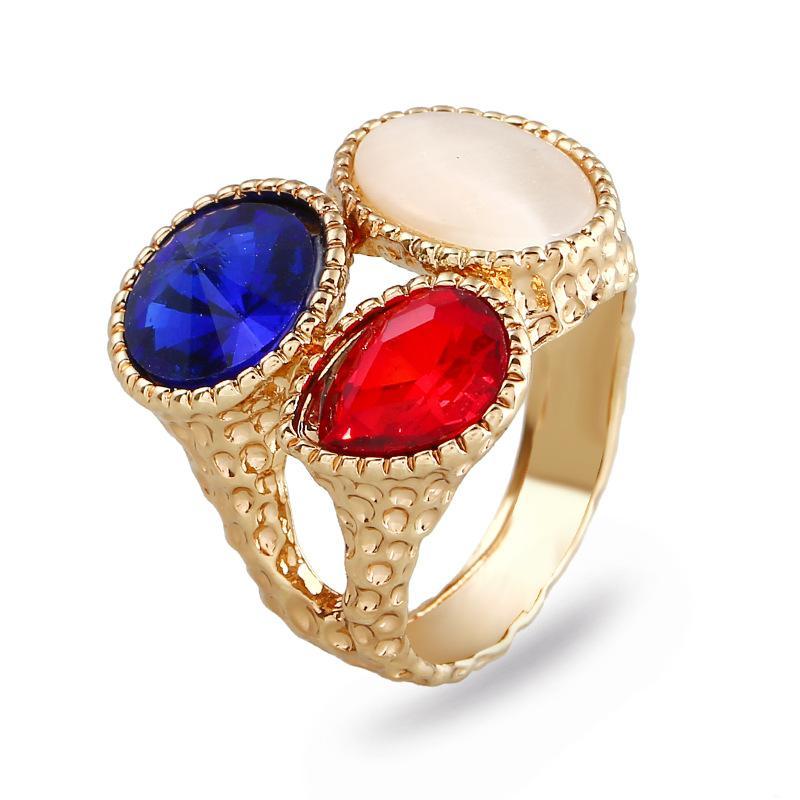 Gioiello europeo e americano nuova personalità occhio di gatto gemma anello anello di cristallo creativo