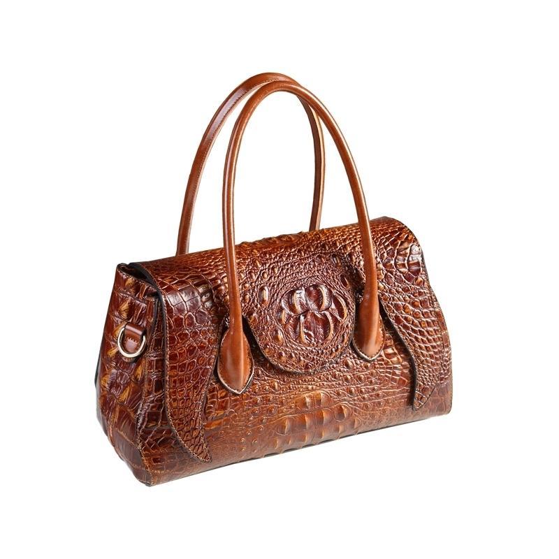 2019 новый дизайнер высокого качества сплит кожаные женские сумки крокодил шаблон сумка женская сумка бостон подушка сумки посыльного Y19061204