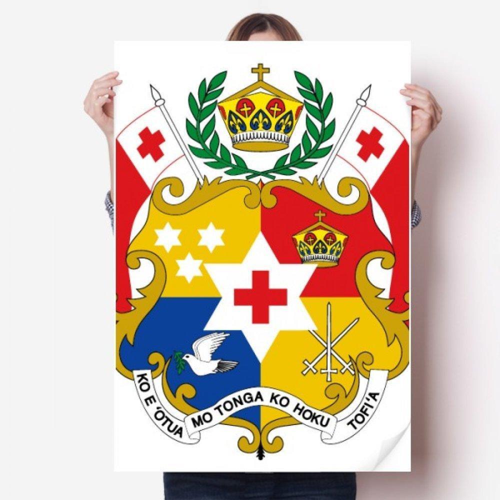 DIYthinker Tonga Okyanusya Ulusal Amblem Vinil Duvar Sticker Posteri Duvar Duvar Kağıdı Odası Çıkartması 80X55 cm