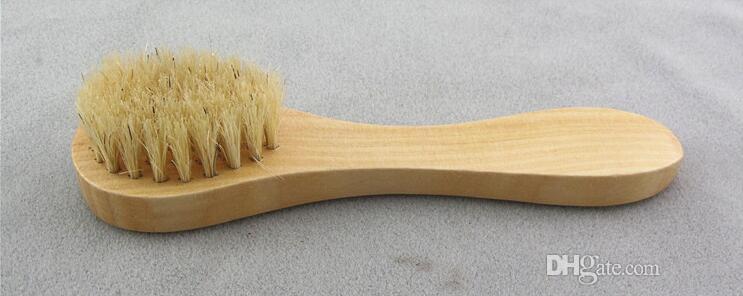 Gesichtsreinigung Pinsel für Facial Peeling Naturborste Exfoliating Gesicht Pinsel für das Trockenbürsten und Abbürsten mit Holzgriff 2020