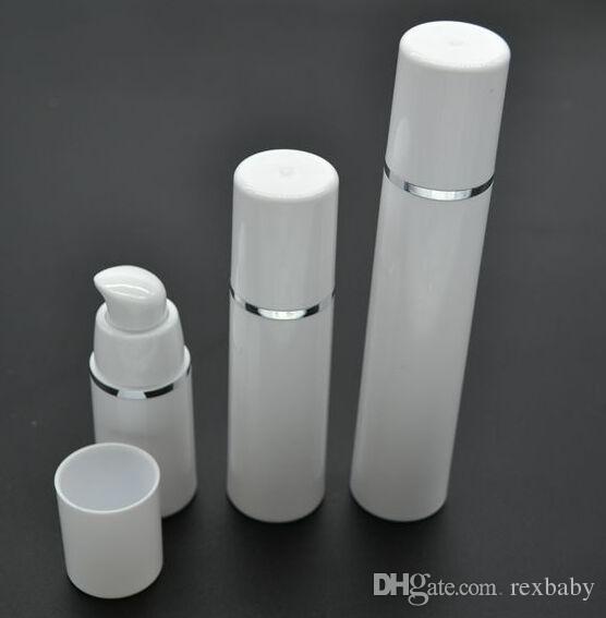 15ML 30ML 50ML عالية الجودة الأبيض مضخة الرش زجاجة - السفر إعادة الملء كريم التجميل العناية بالبشرة موزع ، PP غسول التعبئة الحاويات