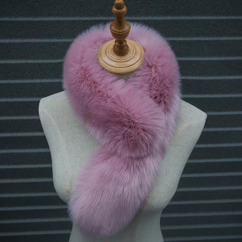 Naiveroo Winter Autumn Warm Faux Fur Collar Women Scarf Thick Warm Fur Coat Scarves Raccoon Long Neck Warmer Collar 75CM