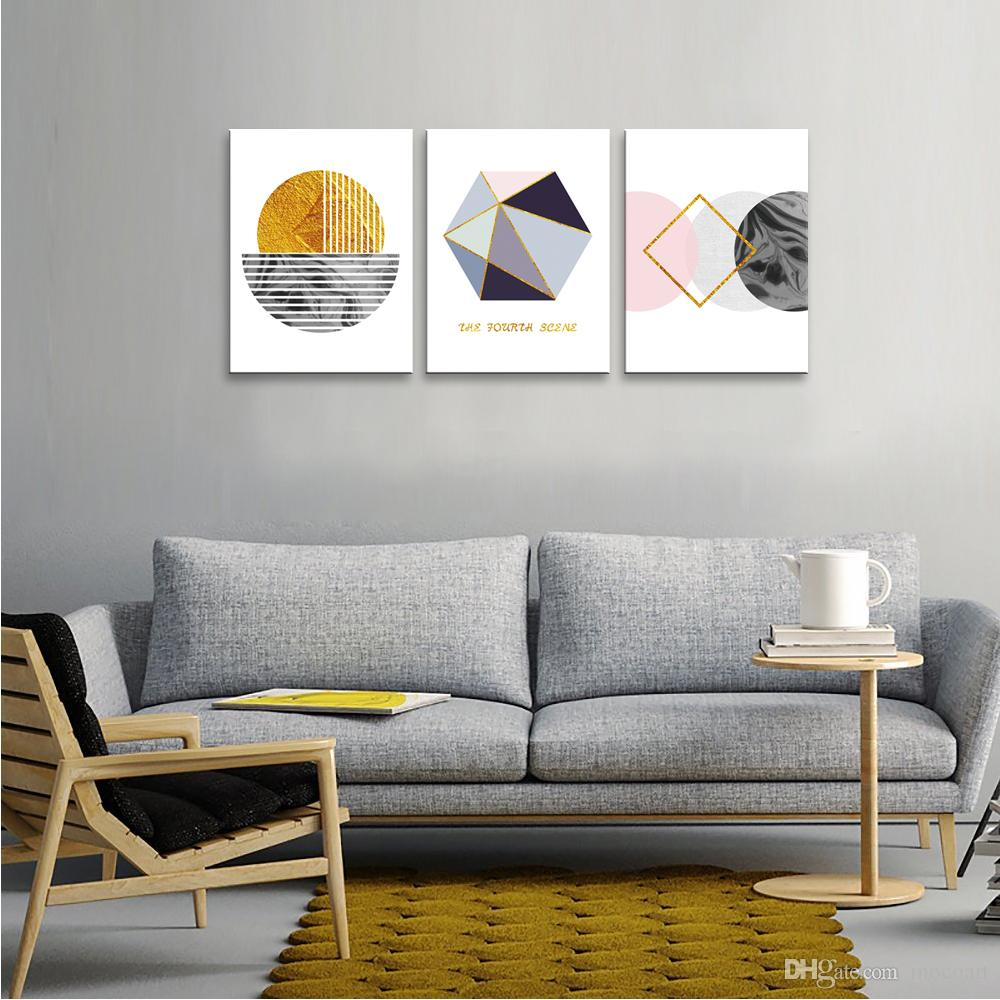 2021 Abstract Canvas Prints Wall Art Geometry Wall Picture Simple Life Painting For Living Room Decor Framed Picture Ready To Hang From Mocoart 51 16 Dhgate Com