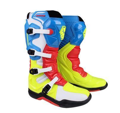 Mens Motorbike//Moto Racing Stivali//Scarpe in pelle scarpe sportive
