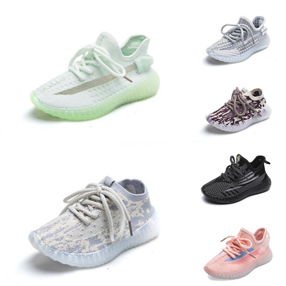 2020 Baby Kids Shoes Clay V2 Luxury Running Shoes Static Reflective Boy Girl Kanye West Beluga 35 Toddler Trainer Children Athletic Shoes #36