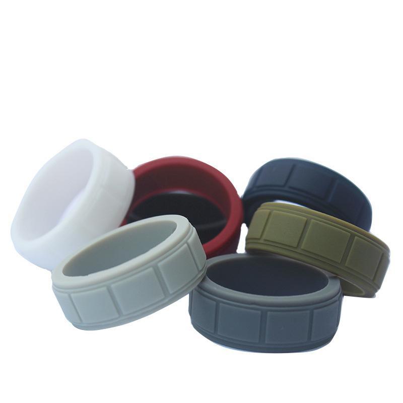 Date coloré motif doigt peau de silicone cerceau bande de caoutchouc de silicium anneau protection mécanique vape vaporisateur vaporisateur Vape RDA réservoirs décorer DHL