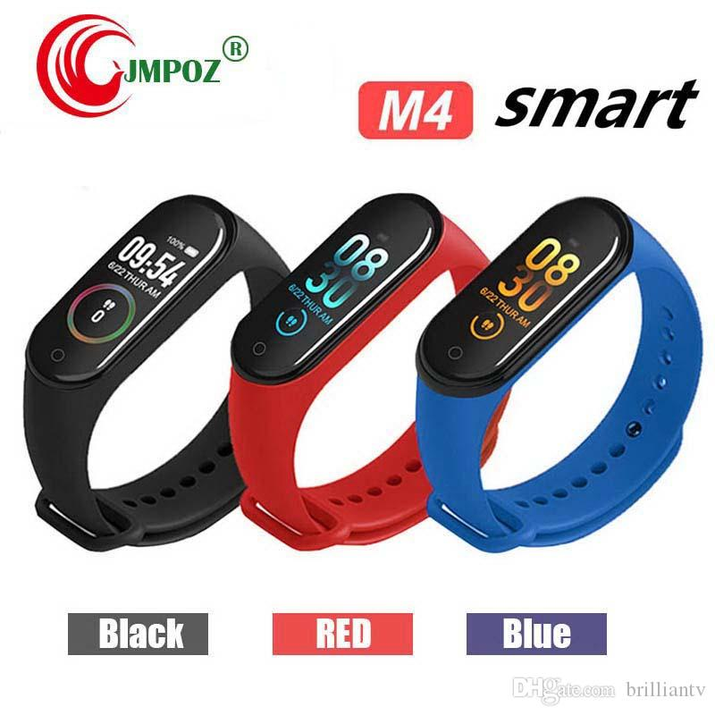 M4 Smart Bracelet Fitness Tracker Heart Rate Watch Wristband Blood Pressure for iPhone Android Cellphones PK XIAOMI MI BAND 3 in Box