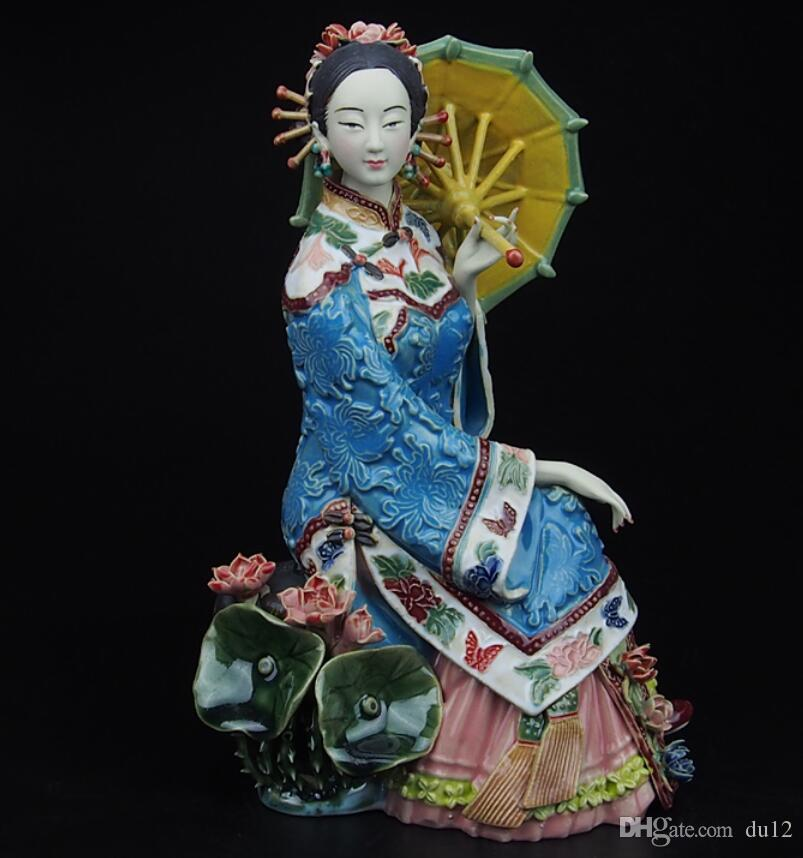 master of fine ladies of modern Chinese characters decoration washeng intoxicating handmade ceramic crafts