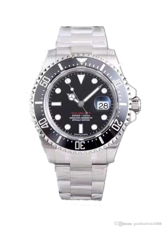 Designer montre mer ange série m126600 126603 machines automatiques en acier doré anneau en céramique 43mm montres de luxe hommes