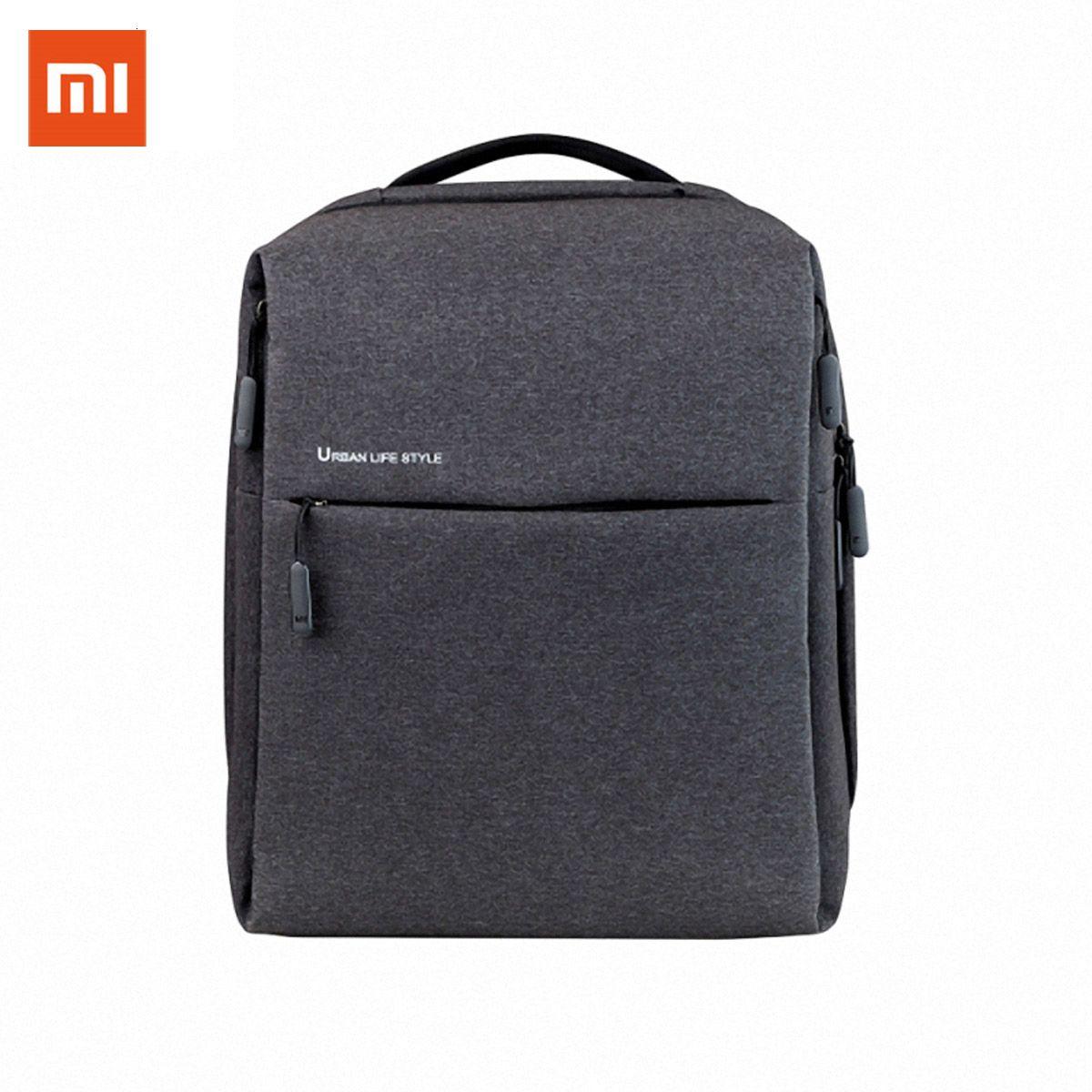 Оригинальный Xiaomi Mi Рюкзак Urban Стиль жизни Плечи OL мешок рюкзака рюкзака Школьница мешок вещевой мешок 14 дюймов Сумки для ноутбуков CJ191201