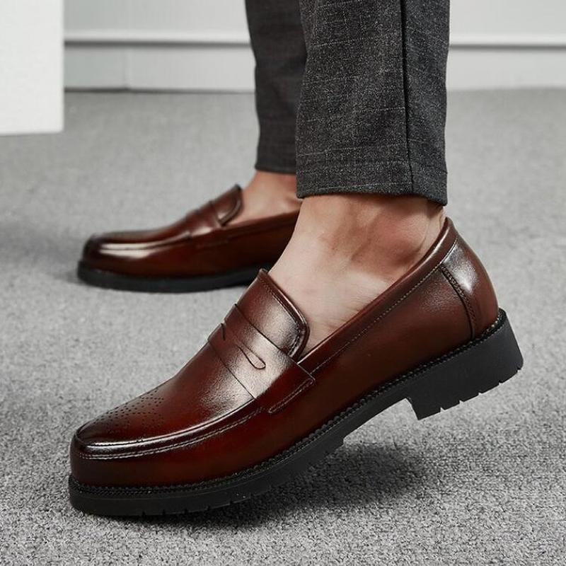Hombres hombre vestido masculino mocasines formales deslizan en los zapatos para hombre de la PU del negocio del cuero de conducción Zapatos de hombres Zapatos personlizar M0240