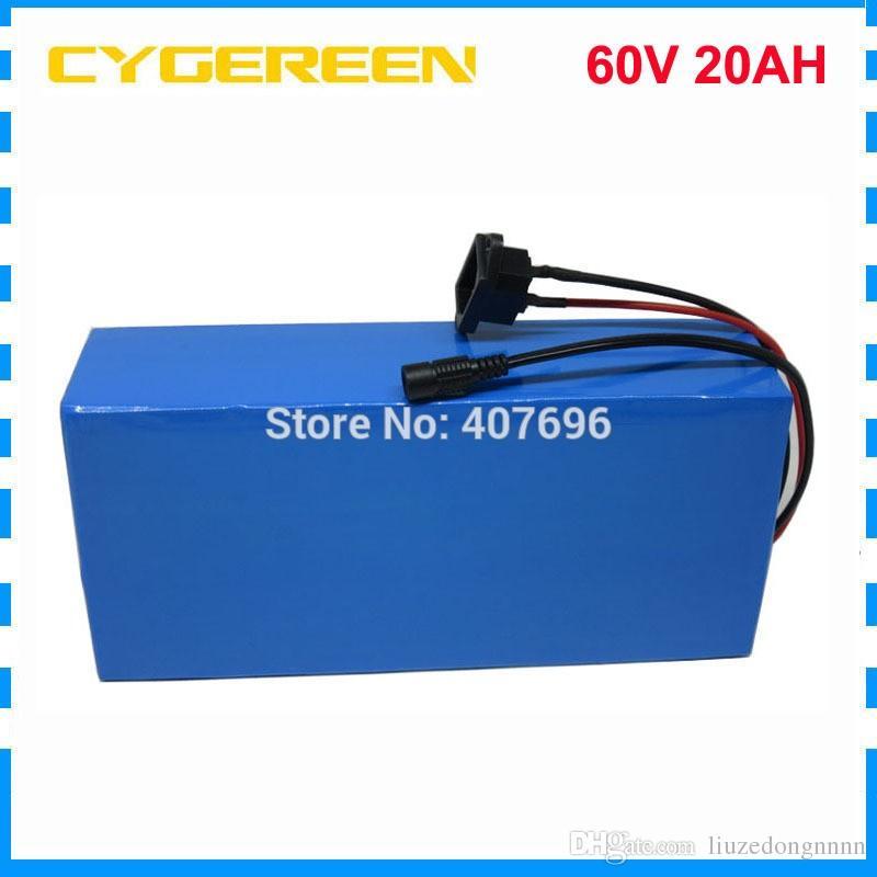 60 V 20AH lithium-ionen ebike akku 60 V 1500 Watt Elektrische fahrradbatterie 60 V 20AH Roller Batterie mit 30A BMS 2A Ladegerät