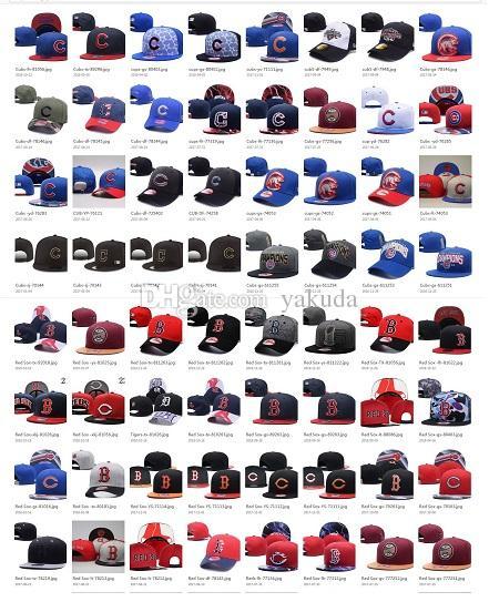 Personnalité 10000 Choix de style Baseball Snapback Tous Basketball Snapbacks Caps Football Chapeaux Hip Hop Sports Fashion Hats Casquettes