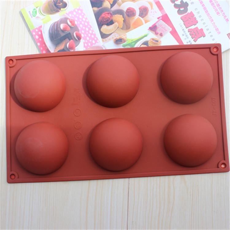 6 incluso la gran cúpula DIY molde de pastel de silicona molde de jabón Jelly pudding moldes de chocolate de silicona CDSM-216