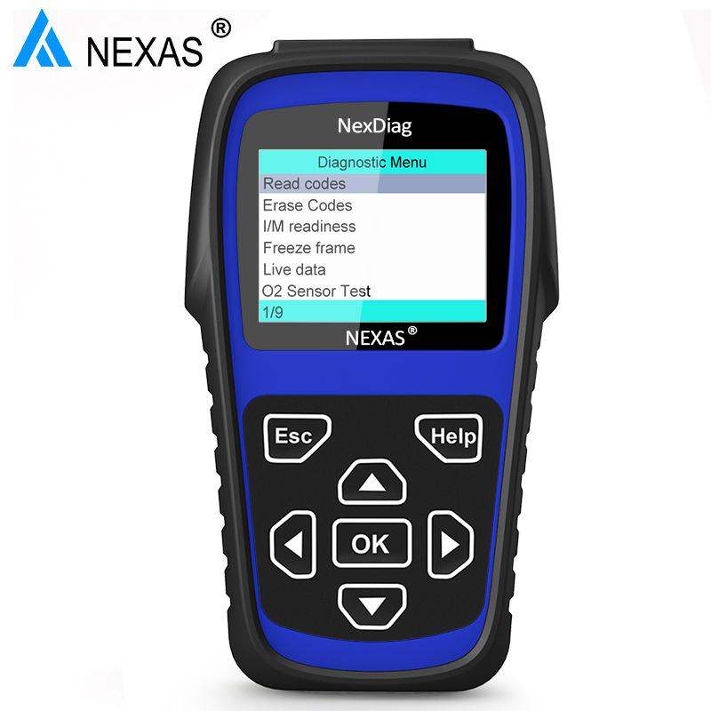 NEXAS ND602 OBD2 Scanner Automotive Car Tools for XJ XF DPF Regeneration ABS SRS Airbag Oil Service Reset BMS SAS