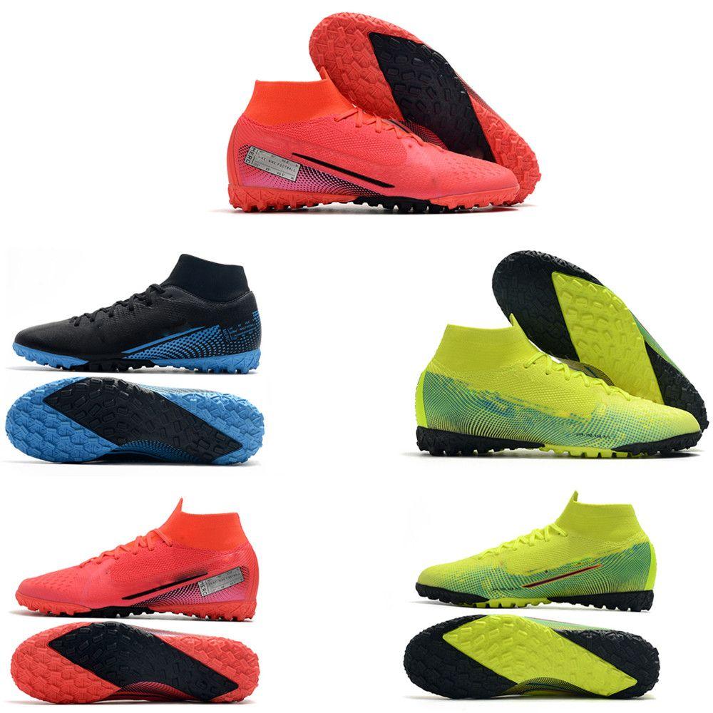 fashion Mercurial Superfly 7 VII Club TF IC Indoor Turf 360 CR7 Ronaldo Neymar NJR Football Boots Cleats Size 39-45