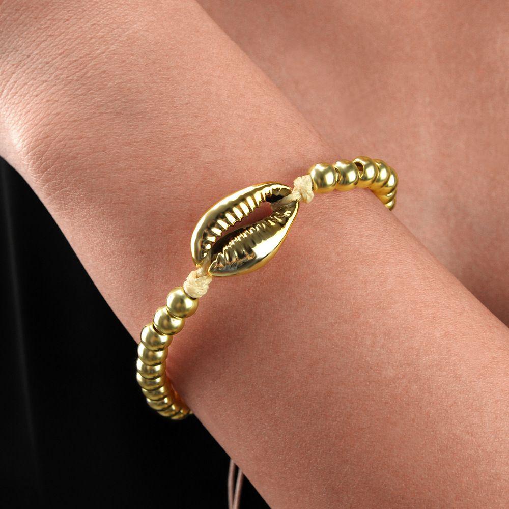 Аксессуары моды сплава оболочки браслет персонализированные моды круглый браслет из бисера женщин браслет
