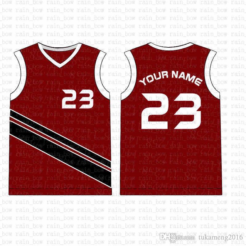2019 новый пользовательский баскетбол Джерси высокое качество мужская бесплатная доставка вышивка логотипы 100% сшитые топ salea1 58