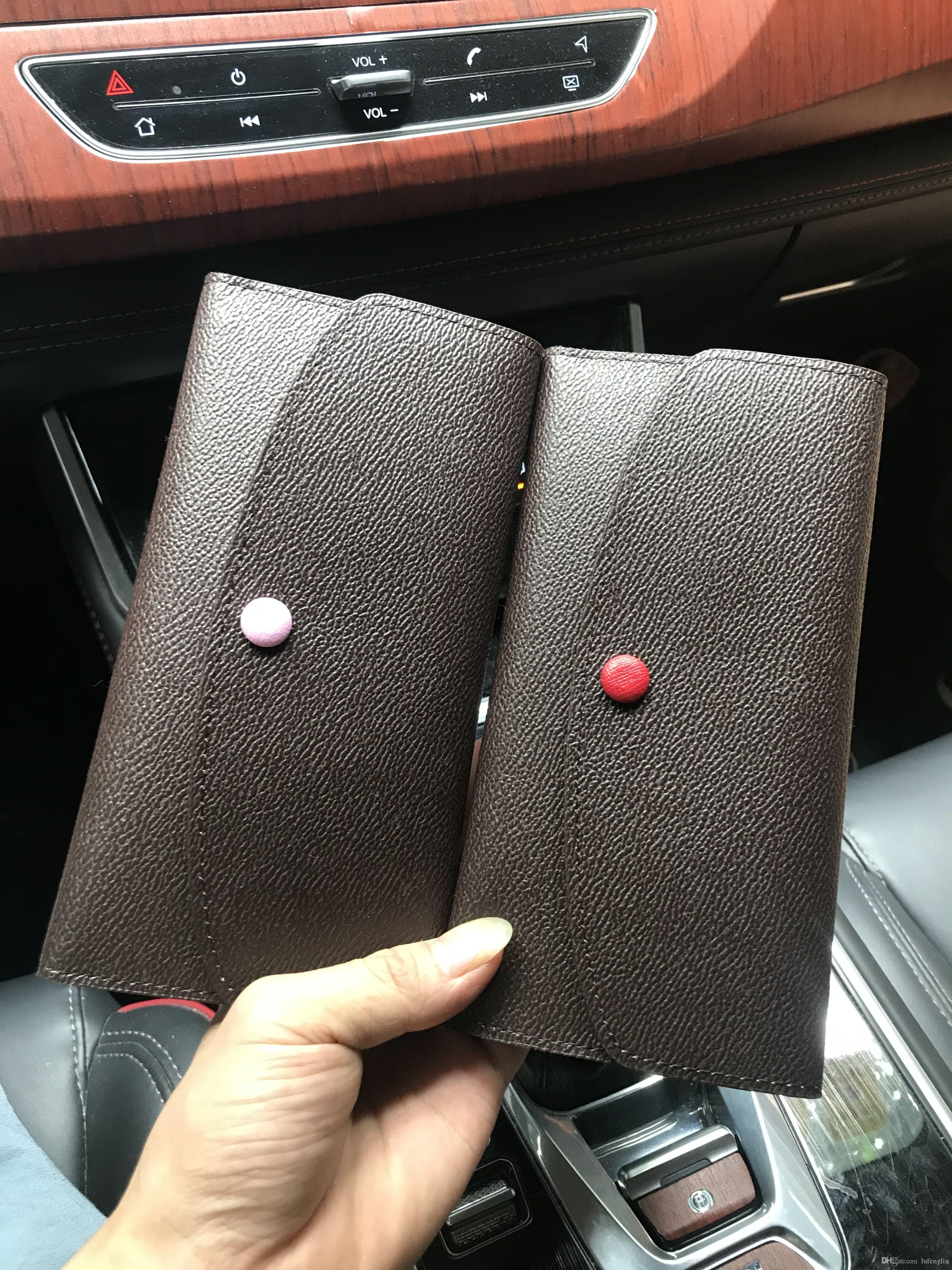 Designer de atacado mulheres senhora longa carteira multicolor designer coin titular do cartão bolsa com caixa mulheres clássico bolso com zíper