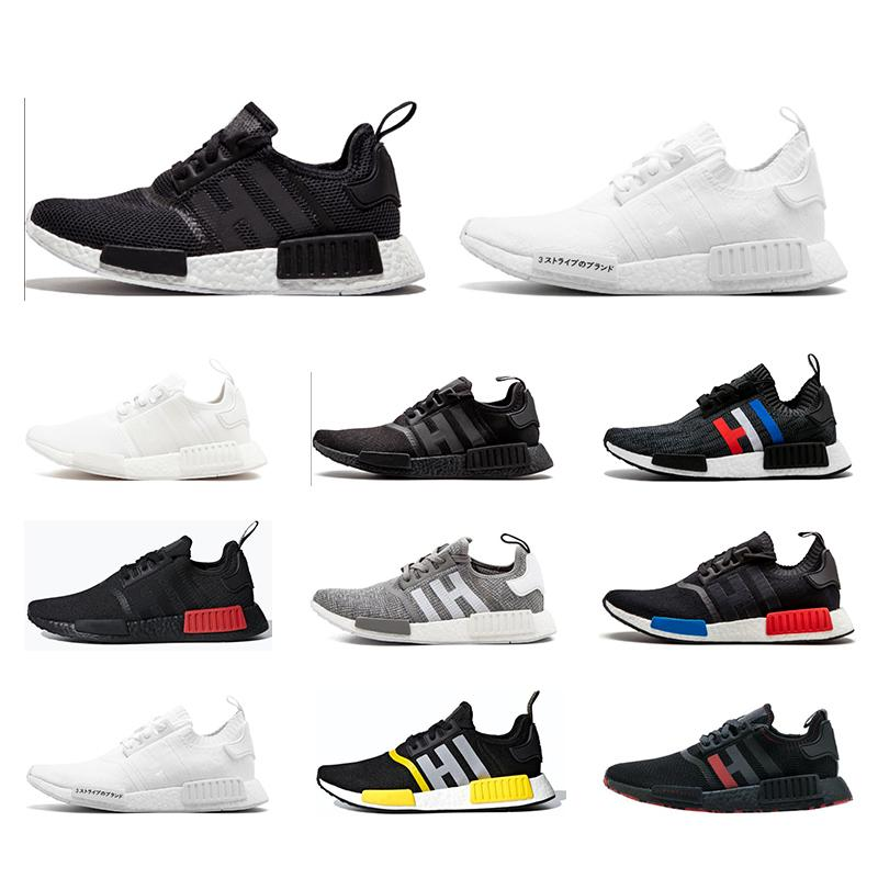 2019 Nmd New Style Walking Sneakers Top Quality Triple White Men Women For Running Shoes Fashion Mens Trainers Zapatos deportivos