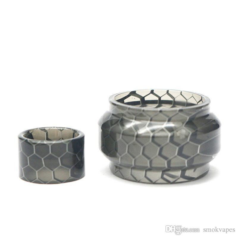 Nuovo colorato Sostituzione del tubo Snakeskin protezione della resina Kit Honeycomb Drip Tip Per VAPE TFV8 bambino V2 serbatoio vaporizzatore Atomizer Alta Qualità