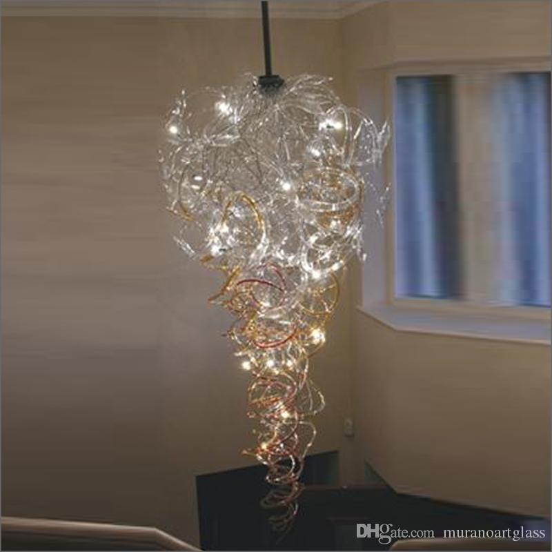 Murano araña de cristal Europeo de iluminación de la venta caliente de la lámpara marroquí Soplado lámpara de cristal romántica decoración de la boda de lujo