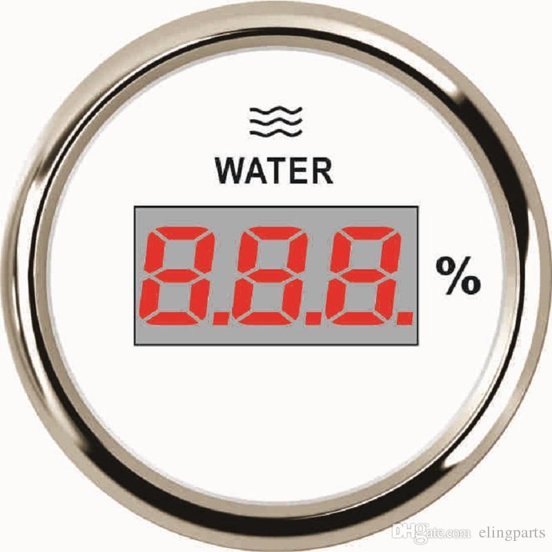 Car Boat 52mm Digital Water Level Gauge Meter 0-190ohm With Backlight 9-32V